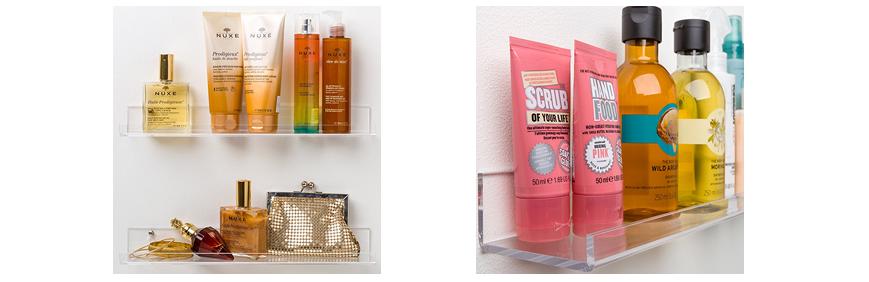 Acrylic Bathroom Shelves