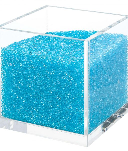 Acrylic Cube Organizer with Crystals (BLUE)