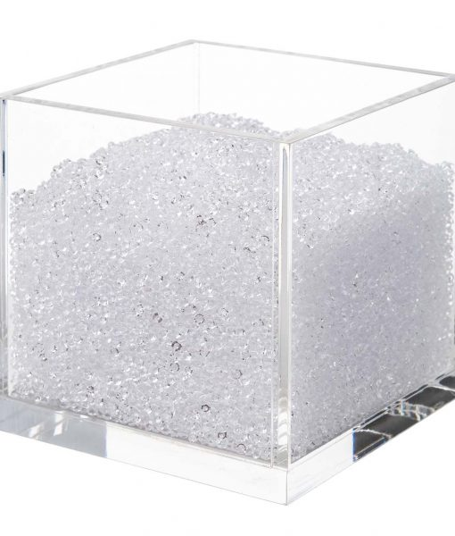 Acrylic Cube Organizer with Crystals (CLEAR)