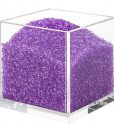 Acrylic Cube Organizer with Crystals (PURPLE)