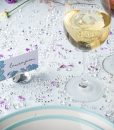 Diamond Place Card Holder & Diamond Table Confetti Set CLEAR 1