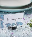 Diamond Place Card Holder & Diamond Table Confetti Set CLEAR