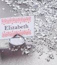Diamond Place Card Holder & Diamond Table Confetti Set CLEAR 2