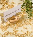 Diamond Place Card Holder & Diamond Table Confetti Set GOLD 2