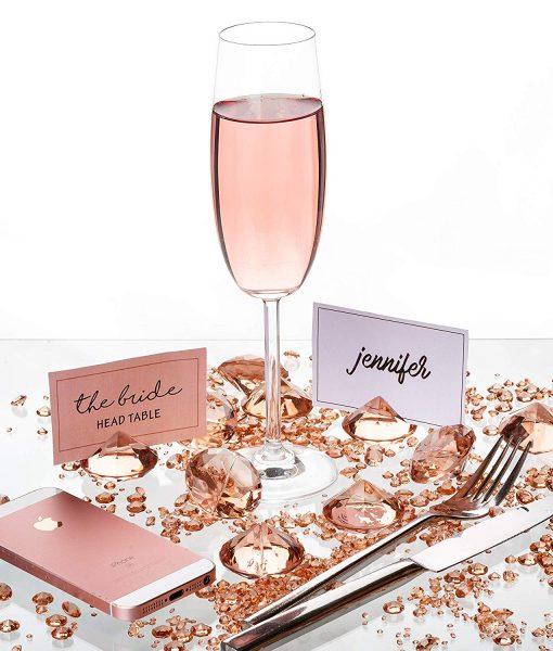 Rosegold Wedding Table Decoration
