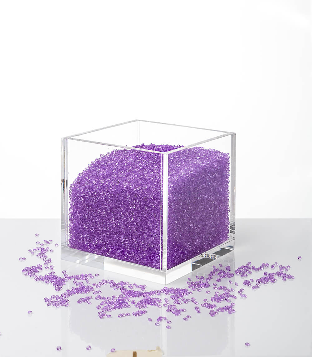 acrylic cube organizer with crystals purple. Black Bedroom Furniture Sets. Home Design Ideas
