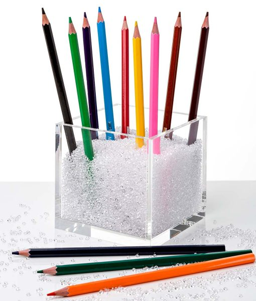 acrylic cube organizer with clear crystals 1