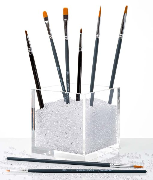 acrylic cube organizer with clear crystals