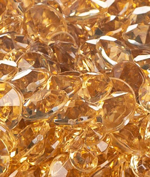 acrylic diamonds gold