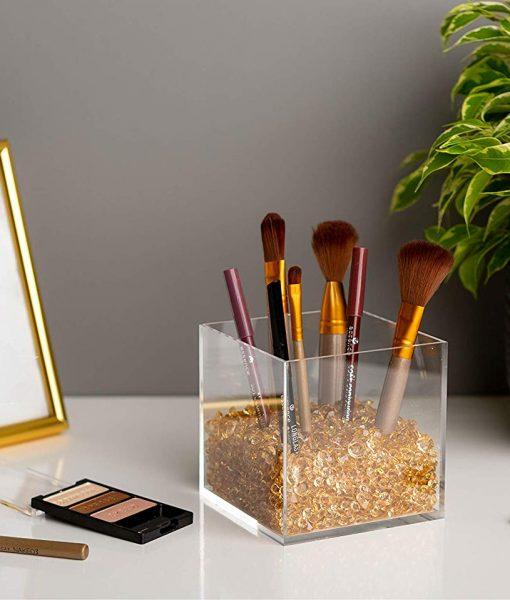 beautiful acrylic makeup brush holder