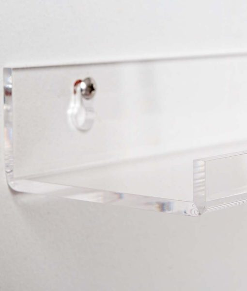 clear acrylic bathroom shelves