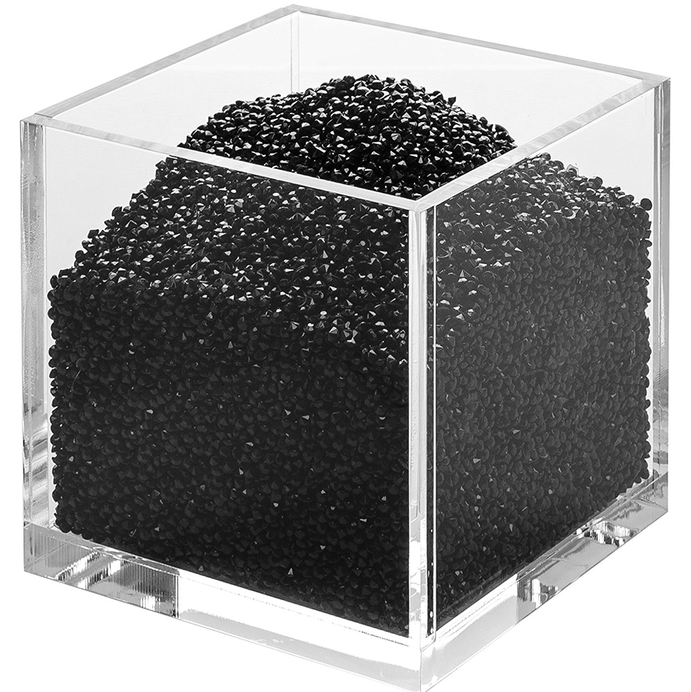 acrylic cube organizer with crystals black. Black Bedroom Furniture Sets. Home Design Ideas