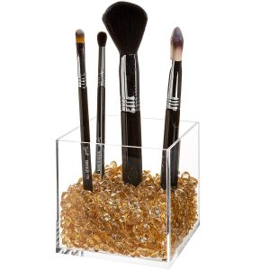 premium acrylic makeup brush holder