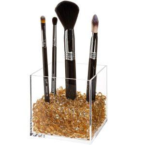 premium acrylic makeup brush holder
