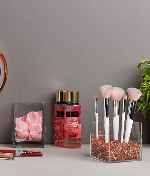 rosegold makeup holder