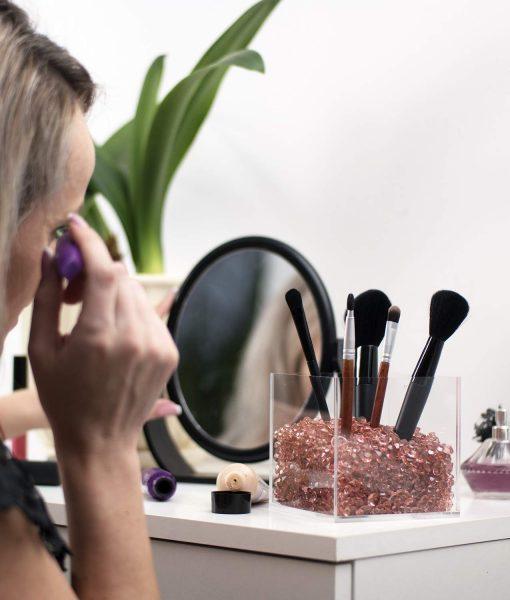 sale rosegold makeup holder