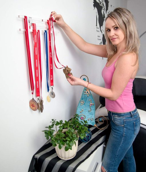 wall mounted medal holder