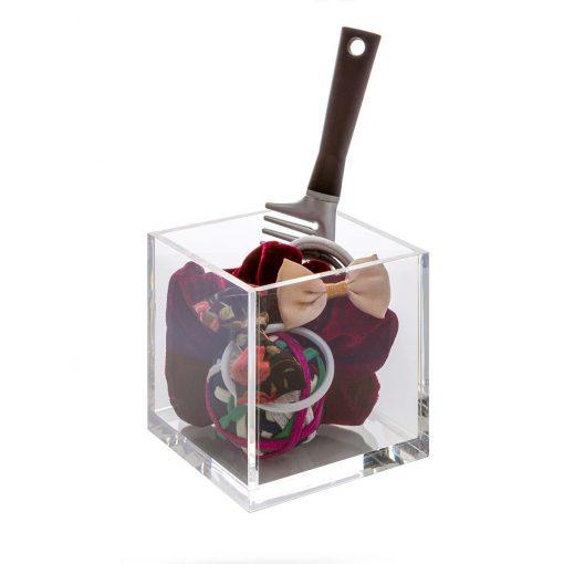 Acrylic Cube Cosmetic Organizer