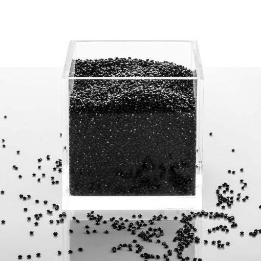 Acrylic Cube Organizer with Crystals (BLACK) amazon