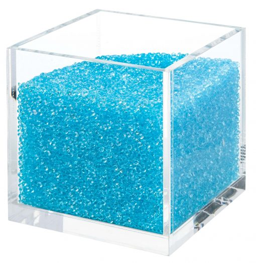 Acrylic Cube Organizer with Crystals (BLUE)