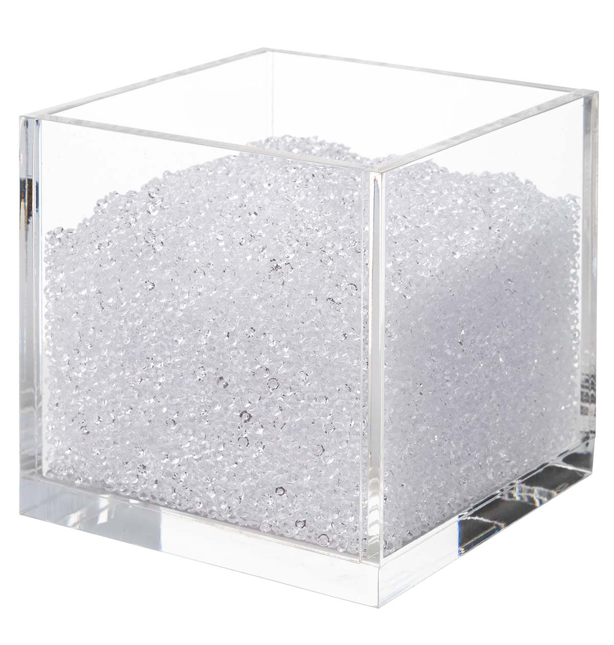 Acrylic Cube Organizer With Crystals