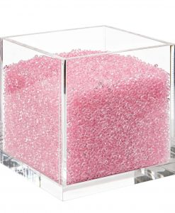 Acrylic Cube Organizer with Crystals (PINK)