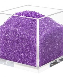 Acrylic Cube Organizer with Crystals (PURPLE)