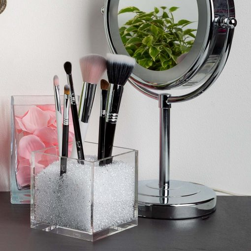 Acrylic Cube Organizer with Crystals for vanity