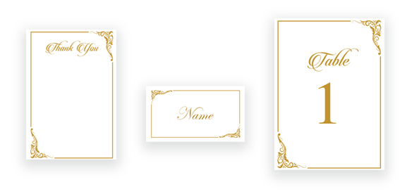 Classic Calligraphy in Gold