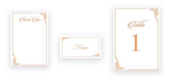 Classic Calligraphy in Peach