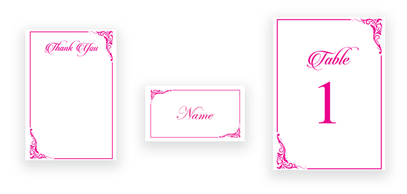 Classic Calligraphy in Pink