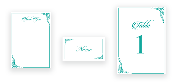Classic Calligraphy in Teal