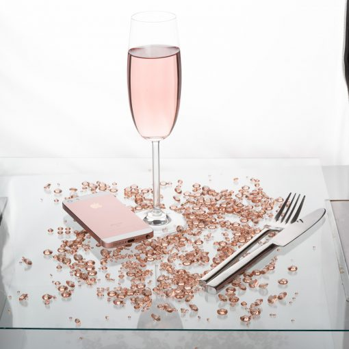 Diamond Table Confetti Rosegold