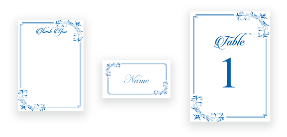 Elegant Calligraphy in Blue