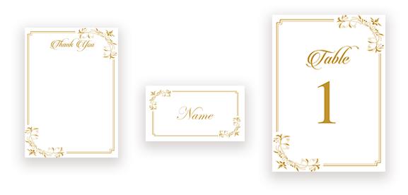 Elegant Calligraphy in Gold