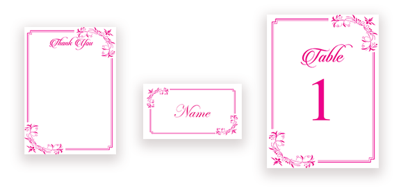 Elegant Calligraphy in Pink
