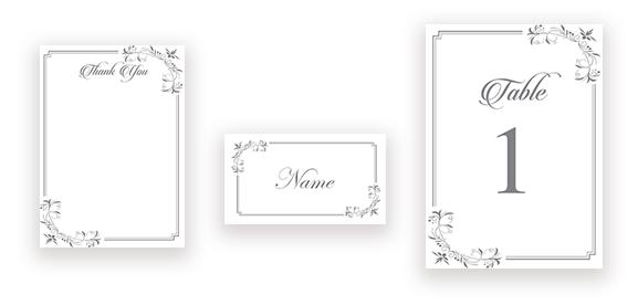 Elegant Calligraphy in Silver