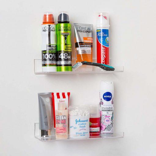 Invisible Acrylic Bathroom Shelves (10 INCH)
