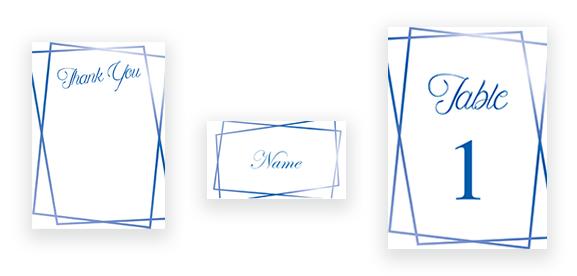 Modern Geometric in Blue