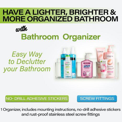 No-Drill Bathroom Organizer