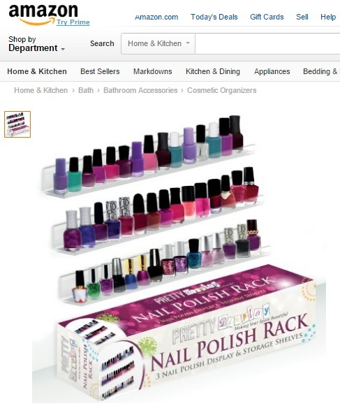 Admirable Pretty Display Nail Polish Rack Now Available On Amazon Interior Design Ideas Tzicisoteloinfo