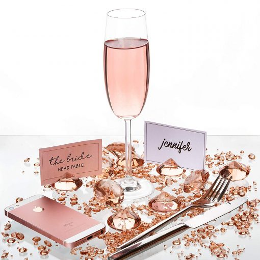 Rosegold Wedding Table Decoration
