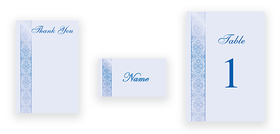 Traditional Calligraphy in Blue