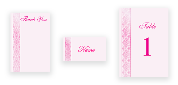 Traditional Calligraphy in Pink