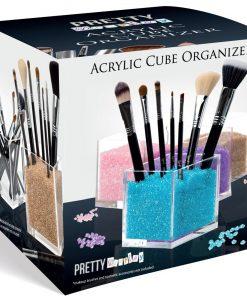 acrylic cube makeup organizer