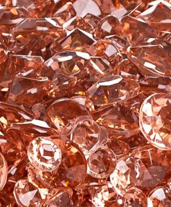 acrylic diamonds rosegold