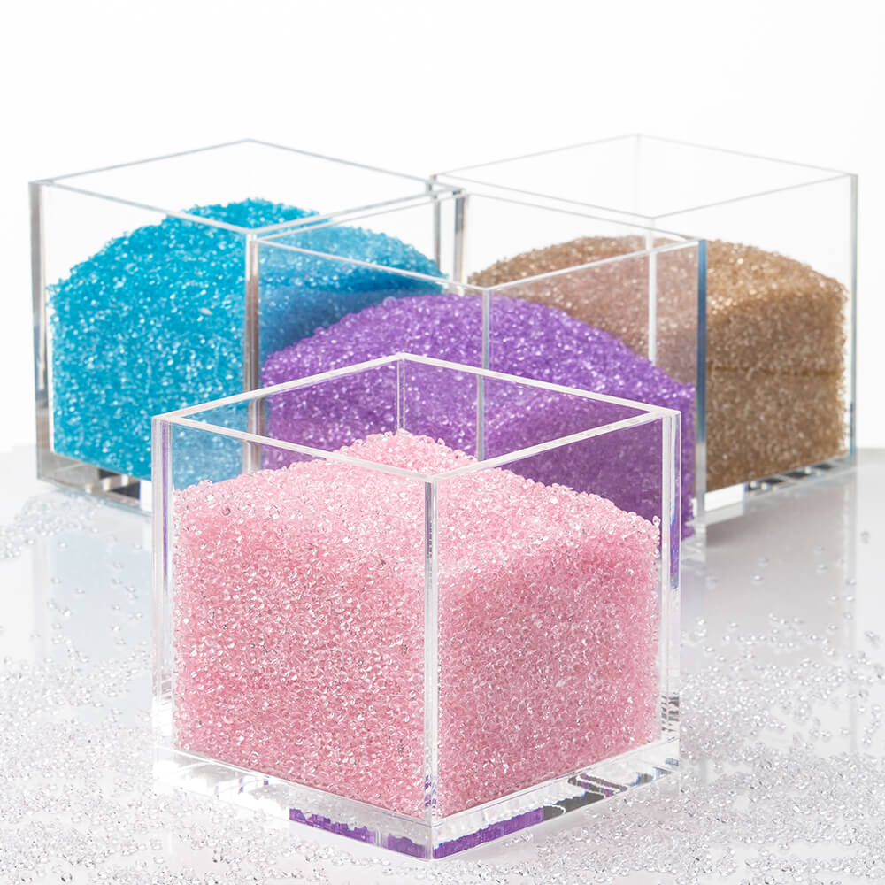 Acrylic Cube Organizer With Crystals Clear