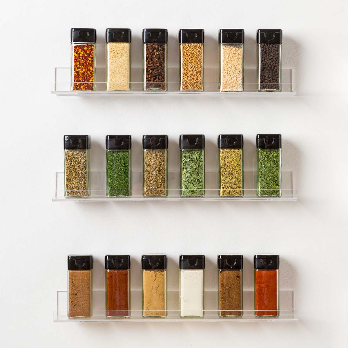 The Invisible Acrylic Spice Rack
