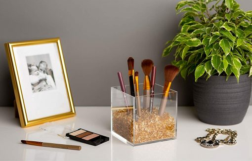beautiful acrylic makeup brush holder