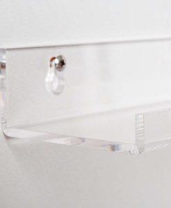 clear acrylic bathroom shelves